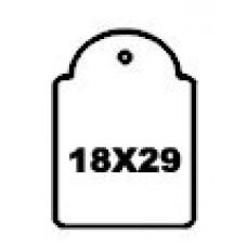 Hangetiket met koord 18x29mm 1000st Td35251829
